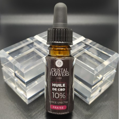 huile de cbd 10% goût fraise large spectre